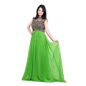 Green Parot Cholp Gown