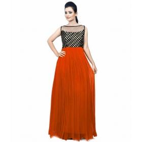 Dark Orange Chexs Gown