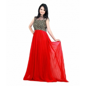 Red Choli Gown