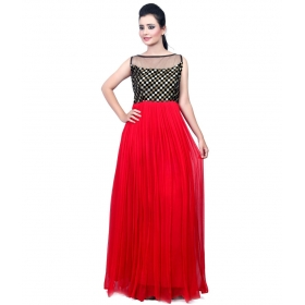 Red Chexs Gown