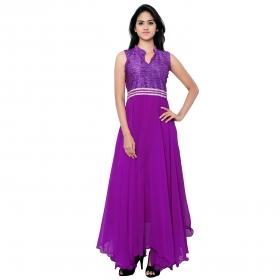 Dark Purple Plan Gown