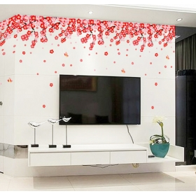 Ay7250 Red Flowers Nature Wall Sticker  Jaamso Royals