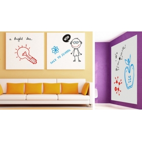Whiteboard White White Board Wall Sticker  Jaamso Royals