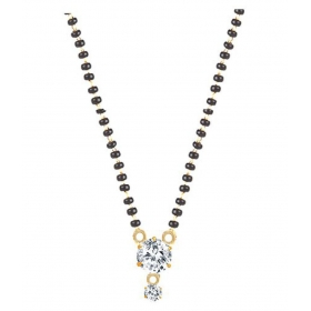 American Diamond Gold Plated Alloy Mangalsutra