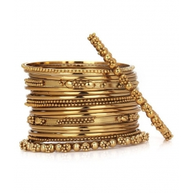 Antique Jewellery Gold Plated Traditional Bangle Set