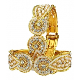 Style Gold Plated Jewellery Bangle Set For Women