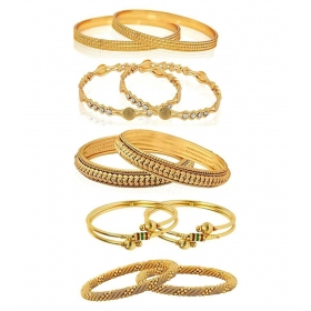 84fbd96f6a Combo Of Five Trendy Traditional Bangles Set For Women And Girls