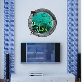 Z-2-002 Sea Window Smart Look Wall Sticker  Jaamso Royals