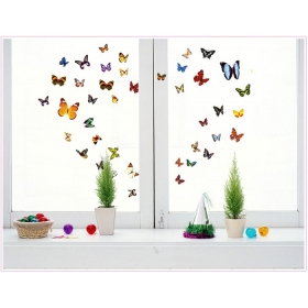 Ay1043a Multicolour  Butterfly  Wall Sticker  Jaamso Royals