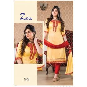 Zarine Khan Lawn Cotton Semi Stitched Salwar Suit