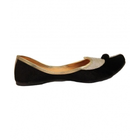 Black Flat Ethnic Footwear
