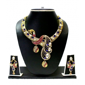 Beautiful Peacock Designer Necklace Set