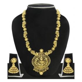 Golden Alloy Designer Necklace Set