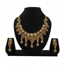 Multicolour Antique Traditional Designer Necklace Set