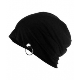 Black Cotton Beanies Cap