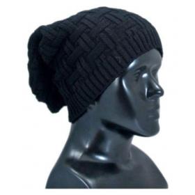 Black Woollen Cap