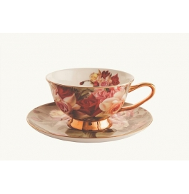 Zars Bone China Tea Set (6 Cups And 6 Saucers)