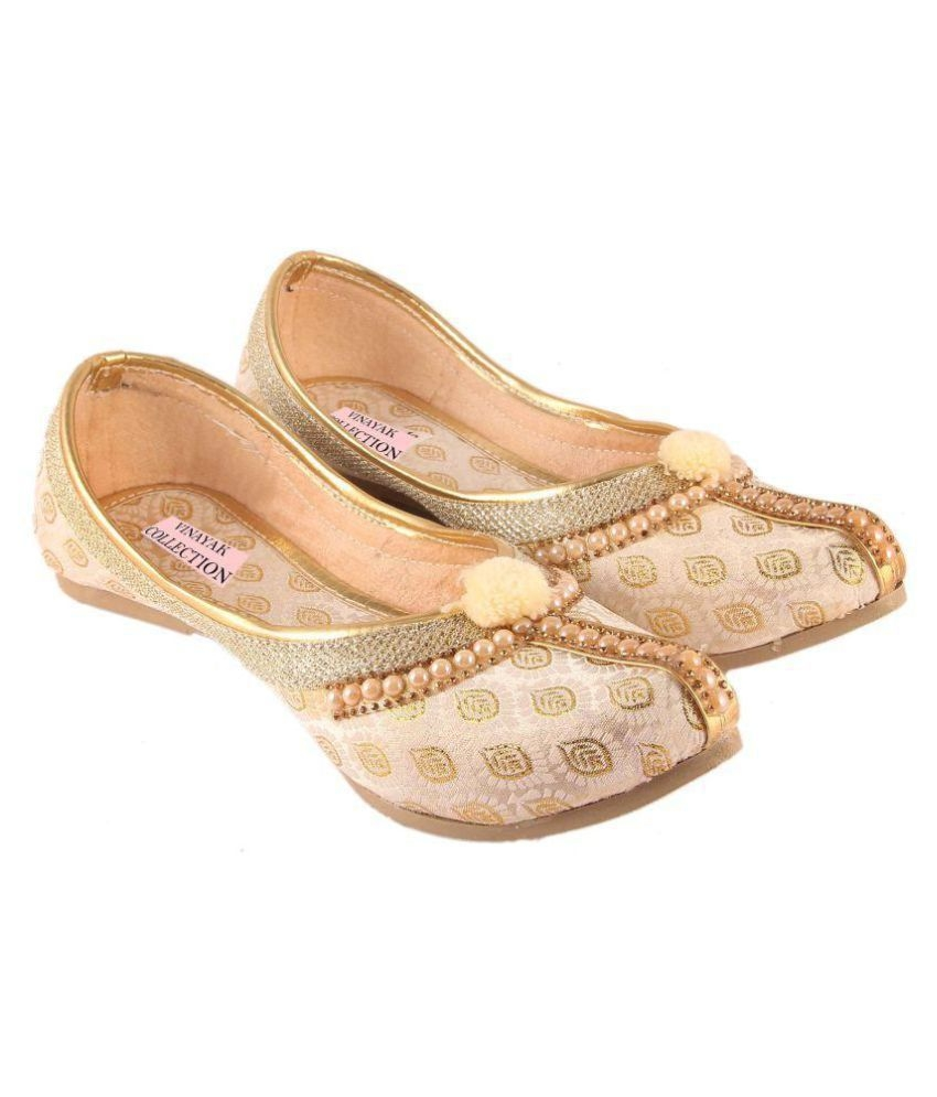 VINAYAK COLLECTION Beige Ethnic Footwear newest outlet latest collections gvcyzz8